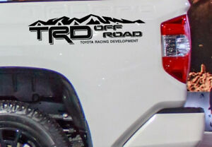 Trd Off Road Vinyl Decal Fits Toyota Tacoma Tundra Truck Bedside Set Of 2 Mtii