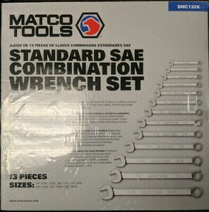 Matco Tools Sae 13pc Standard Wrench Set Smc132k New Cr
