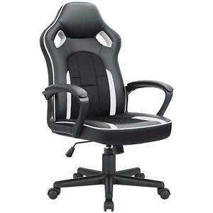 Office Chair Leather Gaming Chair High Back Ergonomic Adjustable Racing Chair