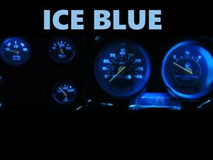 Gauge Cluster Led Dashboard Bulbs Ice Blue For Chevy 73 87 C10 C20 C30 Truck