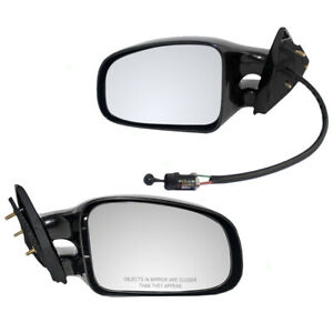 Exterior Manual Door Mirrors Set Fits 1999 2001 Pontiac Grand Am Pair Twin Post