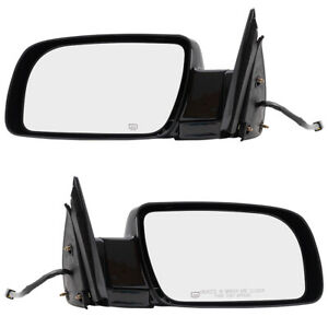Pair Set Power Side Mirrors Heated For Cadillac Chevrolet Gmc Pickup Truck Suv