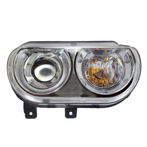 Headlight Assembly For 08 14 Dodge Challenger Passengers Hid Lamp Lens 5028778ab