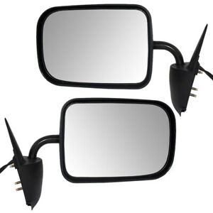 Side Power Mirrors For 94 97 Dodge Ram Truck Textured Mirrors 55076613 55076612