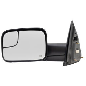 Towing Mirror For 02 10 Dodge Ram Pickup Truck Drivers Side Power Flip up Heated