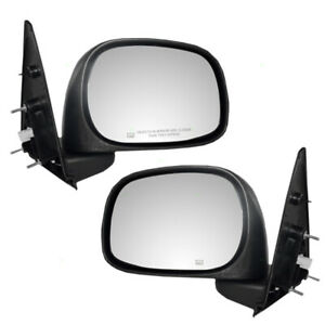 Pair Side Power Mirrors For 02 09 Dodge Ram Pickup Truck Heated 6x9 Textured Set