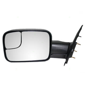 Towing Mirror For 02 10 Dodge Ram Pickup Truck Drivers Side Manual 55077493an
