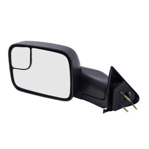 Tow Mirror For 94 02 Dodge Ram Truck Drivers Manual Flip Up 7x10 Textured Mirror