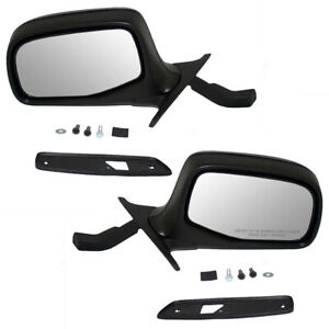 Pair Side Manual Door Mirrors Fit 92 97 Ford Pickup 92 96 Bronco Paddle Type Set