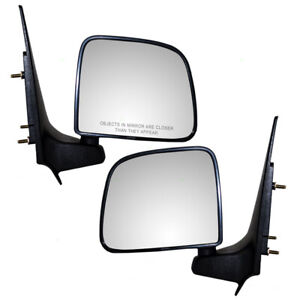 Ford Ranger Mazda Pickup Truck Set Side View Manual Textured Post Mount Mirrors