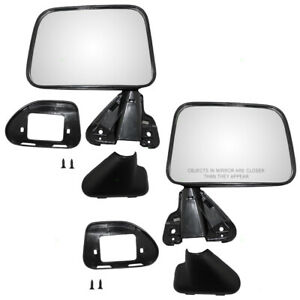Fits Toyota Pickup Truck 4runner Set Of Side View Manual Mirrors Textured