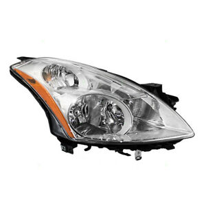 Passengers Hid Combination Headlight Lens Assembly For 10 12 Nissan Altima Sedan