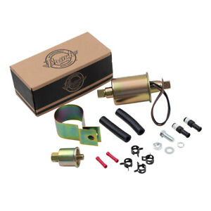 Universal 6 Volt Carbureted Electric Fuel Pump Inline W Installation Kit E8011