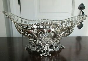 William Comyns Victorian England Antique 1890s Sterling Silver Large Bowl