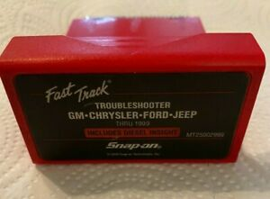 Mt25002999 Snap on Diagnostics Fast Track Troubleshooter Gm chrysler ford jeep