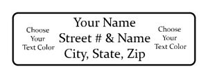 800 Personalized Return Colored Address Labels 1 2 Inch By 1 3 4 Inch