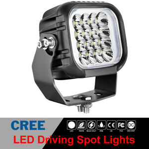 5 Cree Led Driving Spot Lights Work Light Pods Round Square Off Road Truck Atv