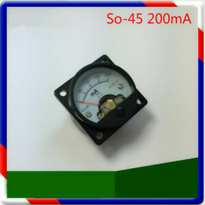 Dc Ammeter So 45 0 200ma Dc Ammeter Chassis Round Analog Panel Meter