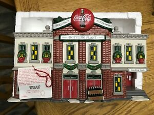 dept 56 Coca-Cola Bottling Plant