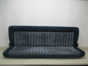 88 To 94 Chevy C1500 K1500 Extended Cab Pickup Rear Bench Seat Oem Blue Folding