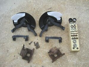 1975 1980 Ford Granada Front Spindles 65 73 Mustang With Calipers Dust Shields