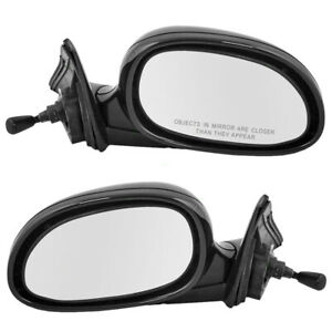 Fits Honda Civic Sedan 92 93 94 95 Set Of Side View Manual Remote Mirrors