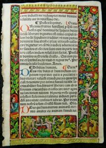 Book Of Hours Metalcut Leaf Paris Simon Vostre 1510 Grotesques Stundenbuch