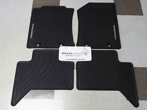 Toyota Tacoma 2015 Factory All Weather Rubber Floor Mats Genuine Oem Oe