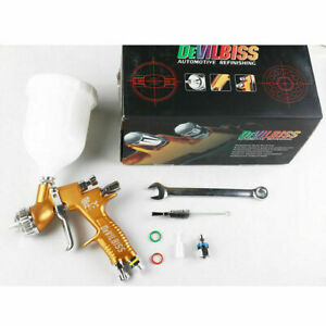 Devilbiss Gti Pro Lite 1 3mm Te20 Gold Nozzle Tool Pistol Spray Gun Paint Cars