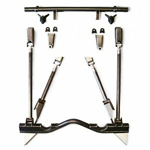 55 57 Chevy Tri five Triangulated 4 link Bracket Only Kit Suspension Front Parts