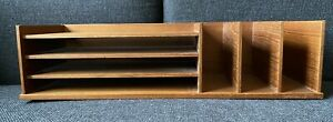 Georg Petersen Mobelfabrik Mcm Desk Organizer Teak Original Label Mcm Danish