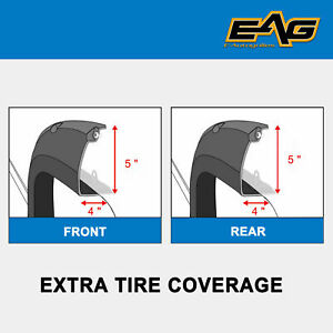 Eag Fender Flares 4pcs Rivet Style Abs Bolt On Pocket Fit 84 01 Jeep Cherokee Xj