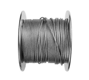 1 16 Stainless Steel Aircraft Cable Wire Rope 7x7 Strands Grade 304