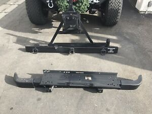 Bumper1987 Jeep Yj Front And Rear Bumpers With Swing Tire Mount