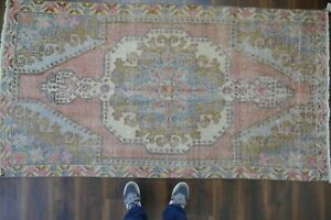Anatolian Turkish Rug Contemporary Oushak Handwoven Wool Antique Carpet 4 X7 7