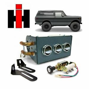 61 80 Ih Scout Compact Under Dash 12v Cab Heater Assembly 266 Terra 800 Traveler