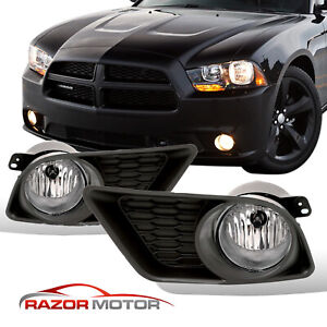 For 2011 2012 2013 2014 Dodge Charger Bumper Fog Lights W Bulbs