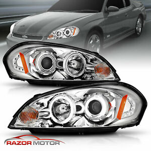 Ccfl Halo 2006 2013 Chevy Impala 06 07 Monte Carlo Chrome Projector Headlights