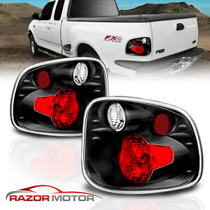 1997 2003 Ford F 150 Flareside Altezza Style Black Rear Brake Tail Lights Pair