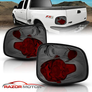 97 00 For Ford F 150 Flareside Altezza Style Smoke Rear Brake Tail Lights Pair