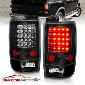 1997 1998 1999 2000 2001 2002 Led Black Brake Tail Lights For Ford Expedition