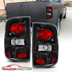 2004 2008 Black Replacement Back Brake Tail Lights Lamp Pair For Ford F150 F 150