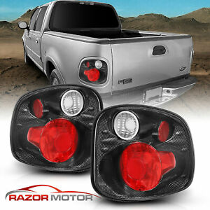 2001 2003 Ford F 150 Pickup Truck Carbon Brake Tail Lights Rear Lamps Pair