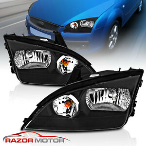 2005 2006 2007 Ford Focus Factory Style Black Headlights Left right Pair