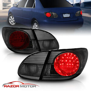 Led Style For 2003 2004 2005 2006 2007 2008 Toyota Corolla Smoke Tail Lights