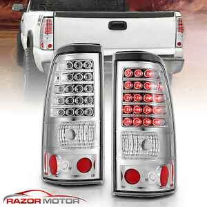 2003 2004 2005 2006 Chevy Silverado 1500 2500 3500 Hd Led Chrome Tail Lights Set