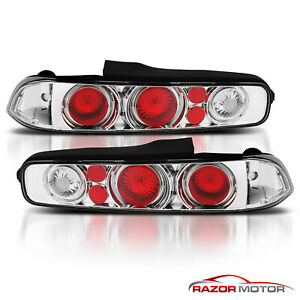 1994 2001 Acura Integra Coupe Jdm Style Chrome Rear Brake Tail Lights Lamps Pair