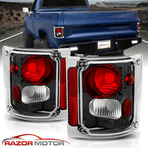 1973 1991 Chevy Gm Blazer Suburban Pickup Truck Carbon Fiber Edition Tail Lights