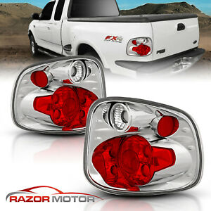 2001 2002 2003 Ford F 150 Flareside Red Clear Rear Brake Tail Lights Pair
