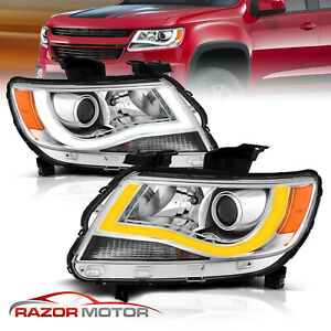 switchback Led Plank 2015 2018 Chevrolet Colorado Chrome Projector Headlight